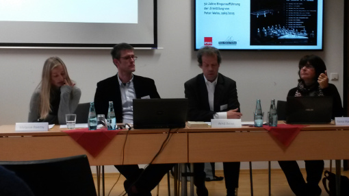 Melanie Raemy, Dr. Arndt Engelhardt, Prof. Dr. Arnd Beise, Ilana Hammerman